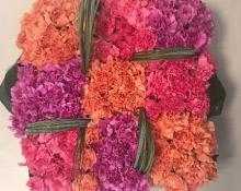 Coussin Carré Fleurs naturelles 01