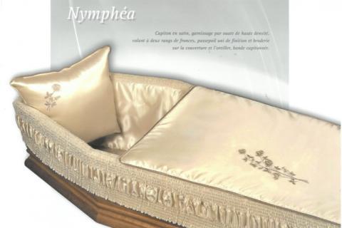 Capiton en Satin Nymphéa couleur Champagne